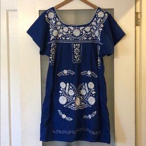 Authentic Mexican Puebla embroidered dress